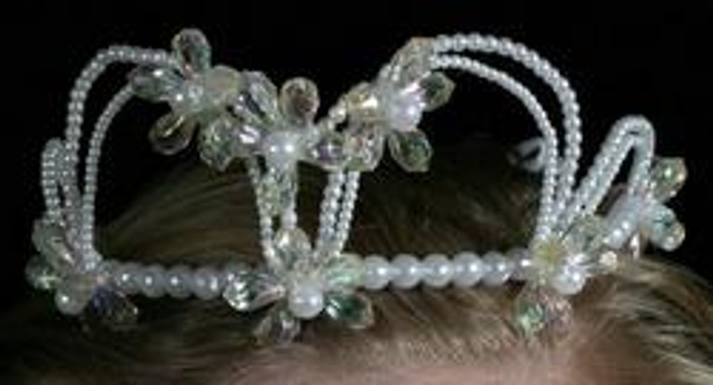 Crystal Cluster Tiara with Veil