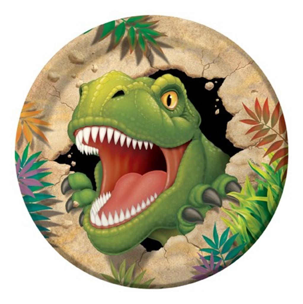 Dino Blast Dinosaur 22.2 cm Dinner Plates - 8 Pack