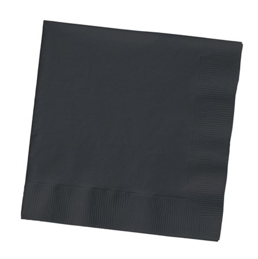 Black Velvet Beverage Napkins- Pack of 50
