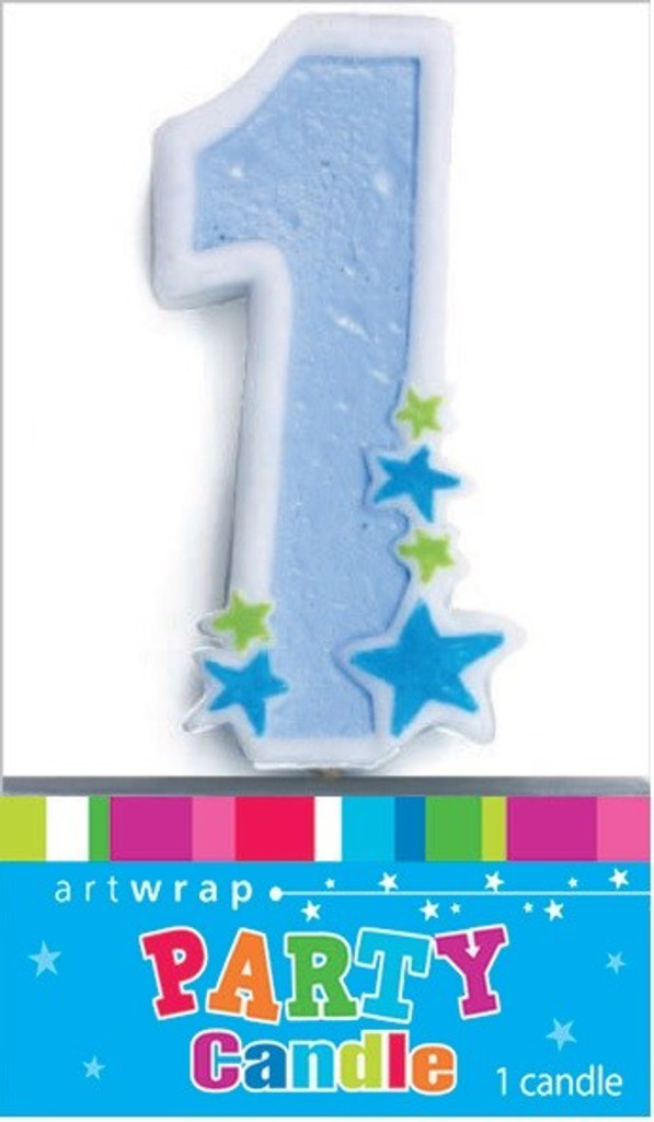 Boys Star One Number 1 Party Candle