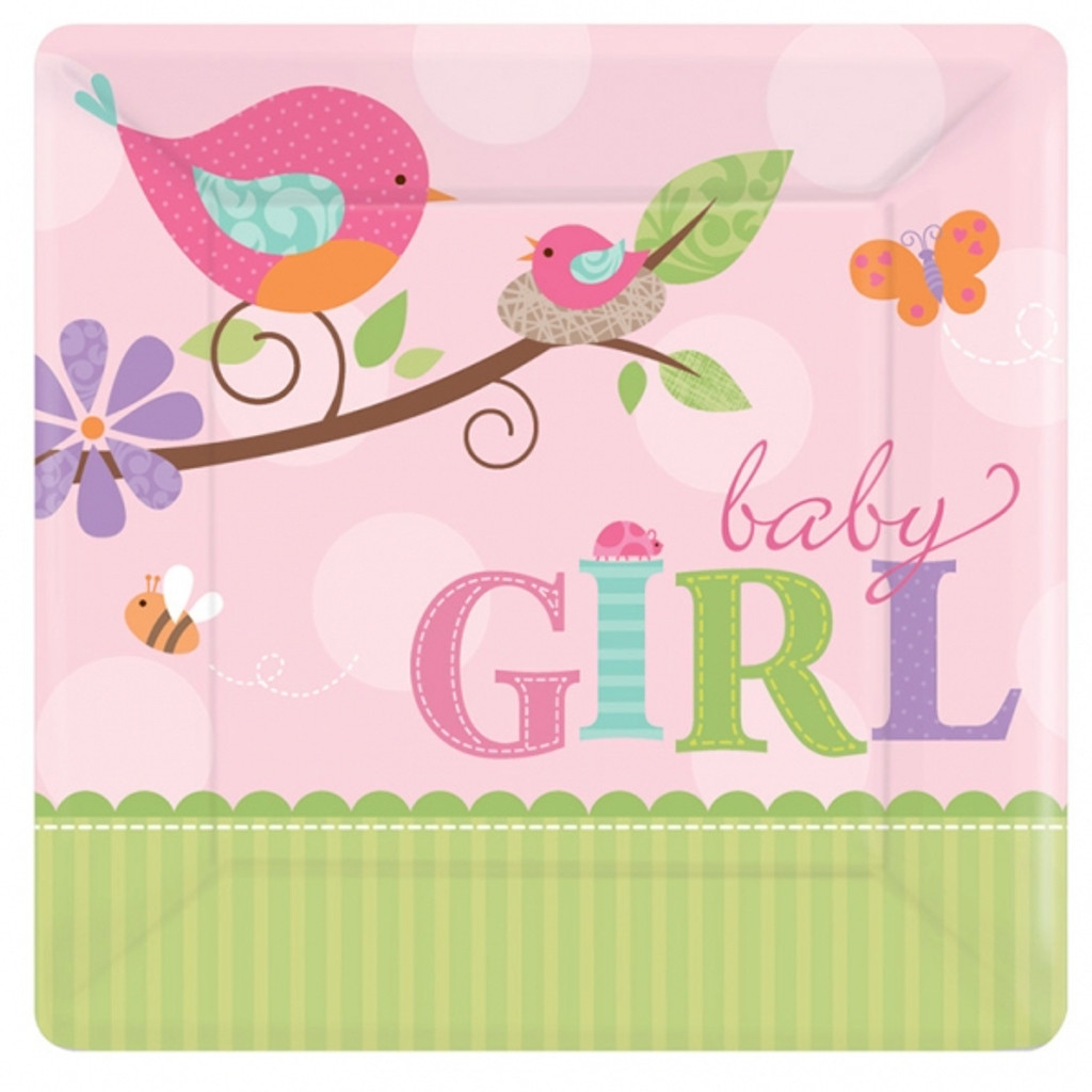 Tweet Baby Girl 17.8 cm Luncheon Plate - 8 Pack