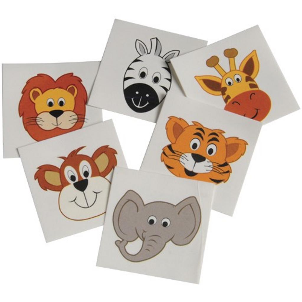 Wild Animal Tattoos - Set of 6