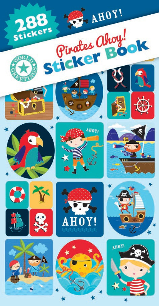 Pirates Ahoy! Sticker Book - 12 Sheets