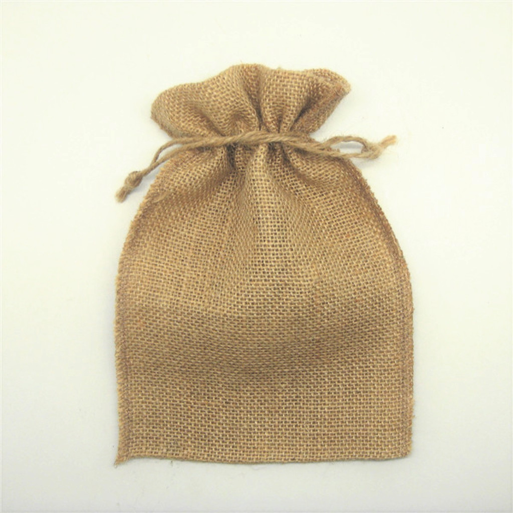Large  Hessian Favour Bag - Approx Size: 165 mm x 235 mm