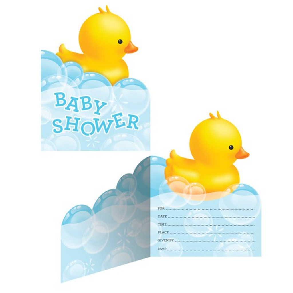 Bubble Bath Baby Baby Shower Invitations - Pack of 8
