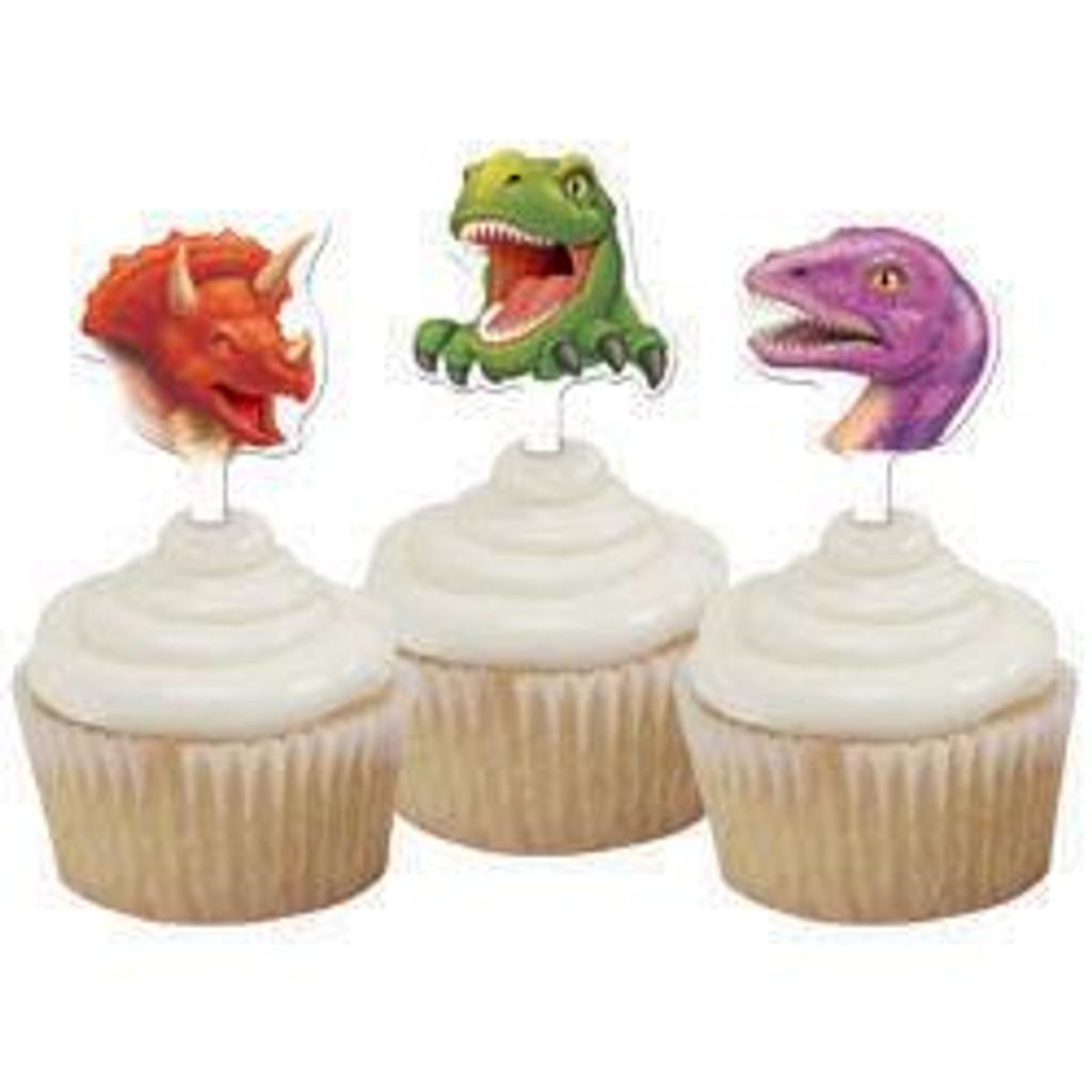 Dino Blast Dinosaur Cupcake Toppers - 12 Pack