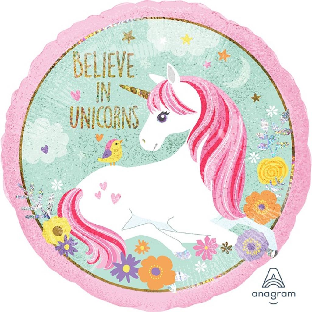 Magical Unicorn Believe in Unicorns Foil Balloon