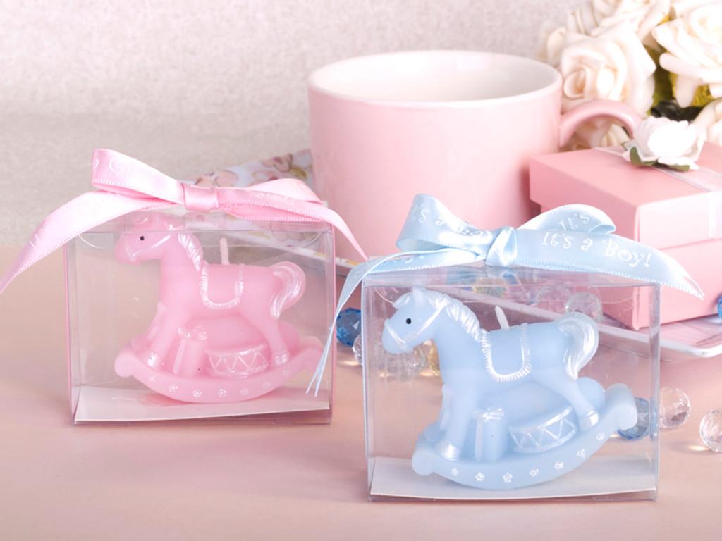 Rockinghorse Candle - Pink or Blue