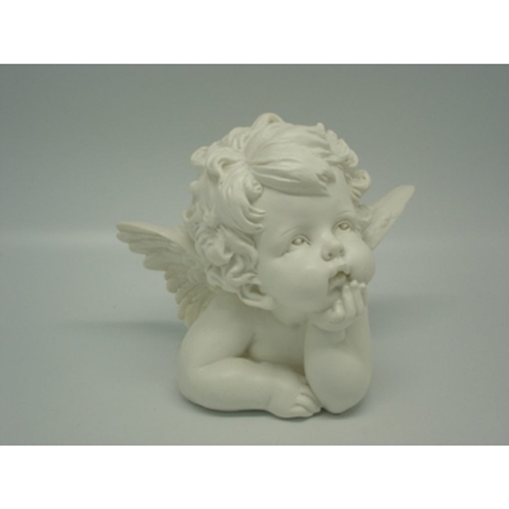 Angel Bust Ornament with Hand on Chin - 16cm x 14cm