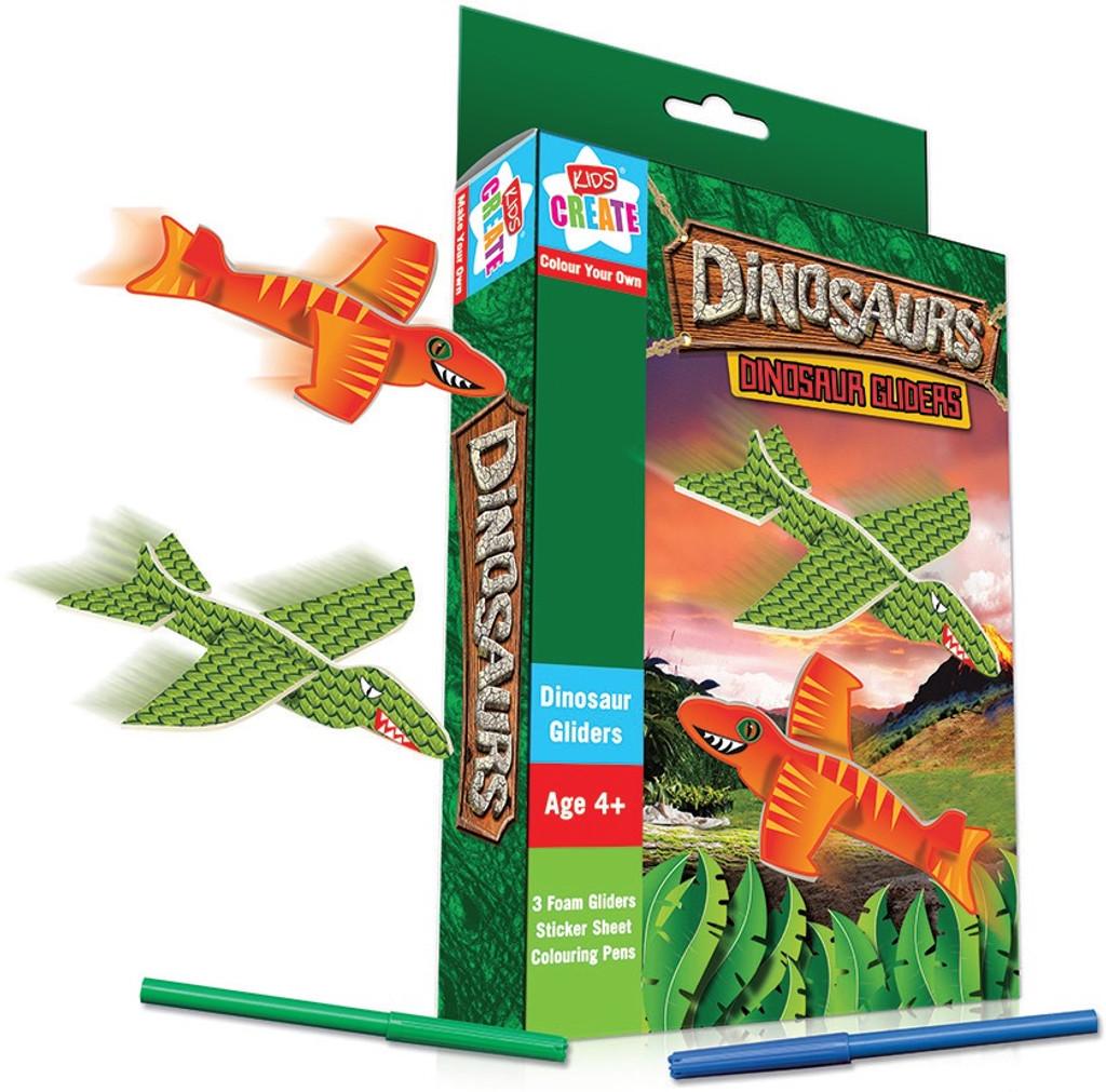 Dinosaur Foam Glider Kit - 3 Gliders