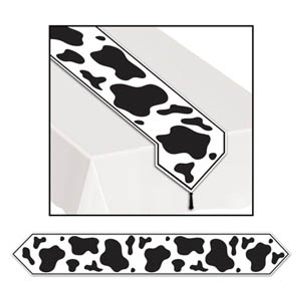 Cow Print Table Runner - 1.8 Metres