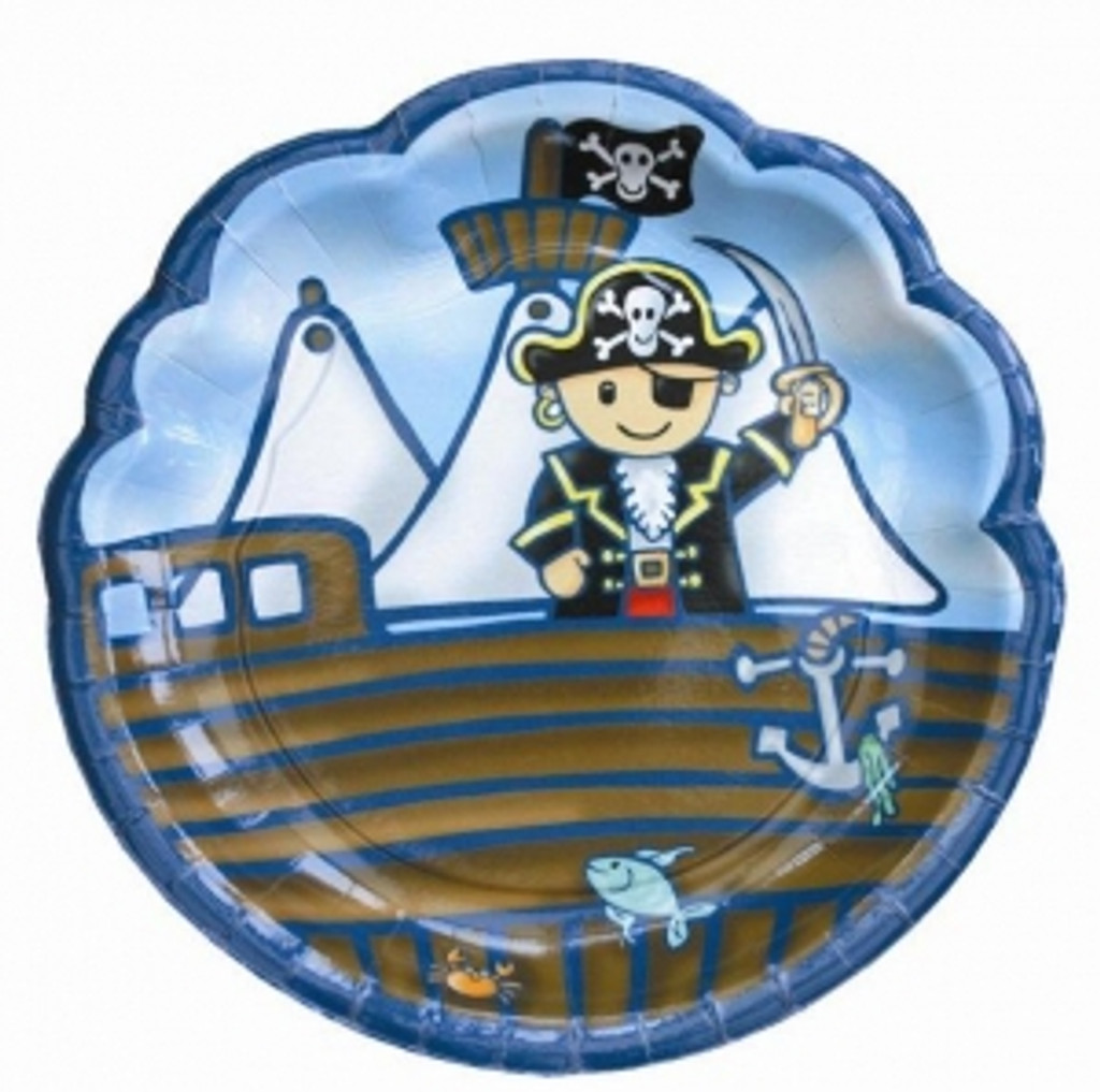 Pirate Party Paper Plates - 8 Pack