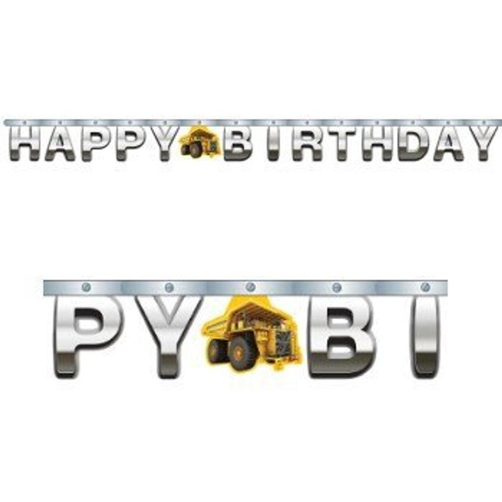 Construction Birthday Zone Happy Birthday Jointed Banner