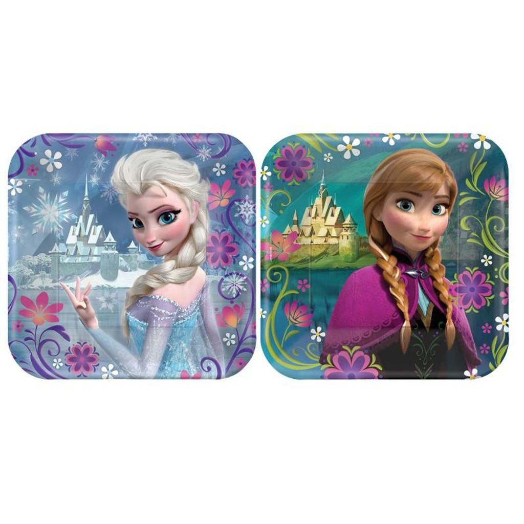 Disney Frozen 17.8 cm Lunch Plates - 8 Pack