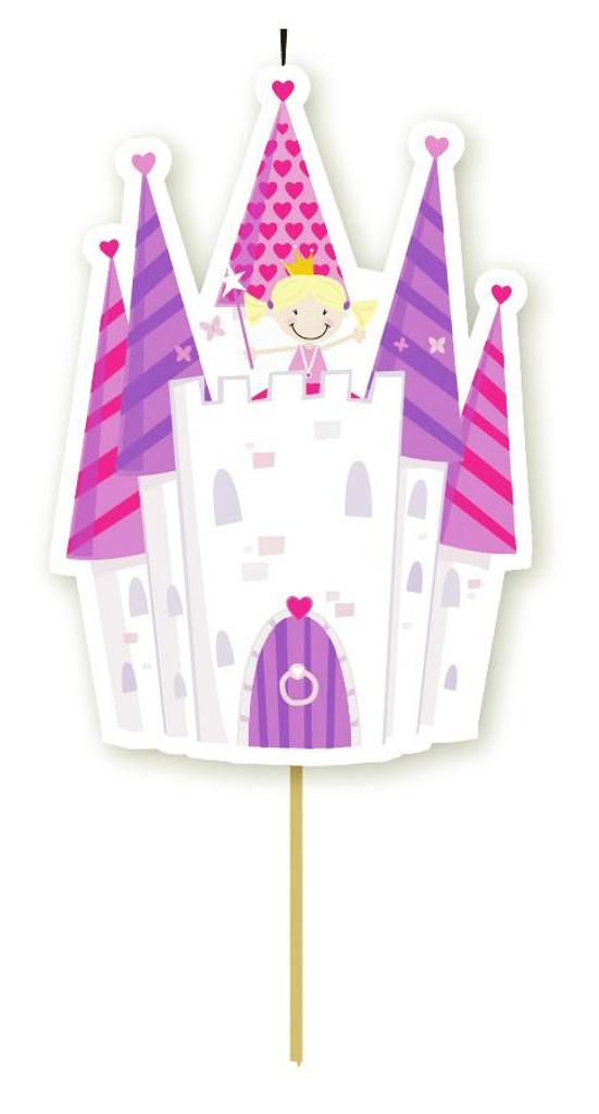 Princess Castle Single Party Candle