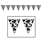 Cow Print Pennant Banner Bunting