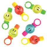 Smiley Face Emoji Bubble Ring Favours - Pack of 6