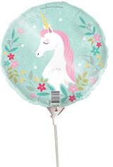 Unicorn Party Foil Balloon on Stick - 22cm