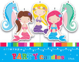 Mermaids Pick Candles - 5 Pack