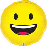 Smiley Face Emoji 45cm Helium Foil Balloon