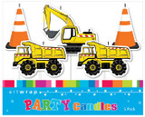 Construction Party Vehicle Pick Candles - 5 Pack