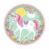 Magical Unicorn Dinner Plates - 8 Pack