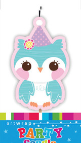 Hoot Owl Single Party Candle
