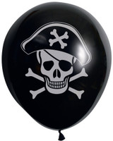 Pirate Printed Balloons - 10 Pack