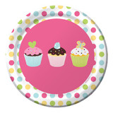 Sweet Treats Cupcakes 18 cm Luncheon Plates  - 8 Pack