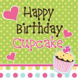 Sweet Treats Cupcakes Birthday Luncheon Napkins - 16 Pack