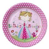 Birthday Princess 23 cm Paper Plates - 8 Pack