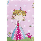 Birthday Princess Plastic Tablecover - 120 cm x 180 cm