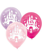 Disney Princess 1st Birthday Latex Balloons - Pack of 15