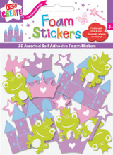 Fairytale Princess Foam Stickers - Pack of 30