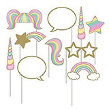 Unicorn Sparkle Photo Booth Props - Pack of 10