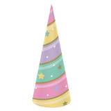 Unicorn Sparkle Horn Shaped Party Hats - Pack of 8