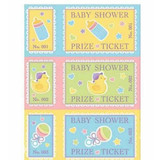 Baby Shower Prize Tickets - 48 Tickets