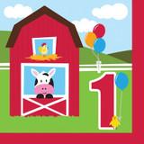 Farmhouse Fun 1st Birthday  Luncheon Napkins - 18 Pack