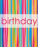 Birthday Stripes Gift Bag - 25.6 cm x 13.2cm x 12.5 cm