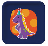 Little Dinosaur Luncheon Plates - 8 Pack