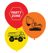 Construction Party Balloons - 10 Pack