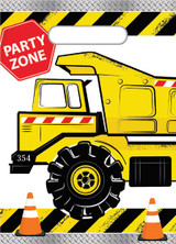 Construction Party Loot Bags - 8 Pack