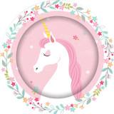 Unicorn Party 23cm  Plates - 8 Pack