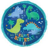 Dino-roar Dinosaur Foil Balloon - 45.7 cm