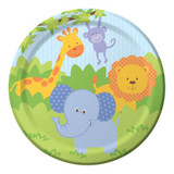Forest Friends Animals 17.4cm Luncheon Plates - 8 Pack