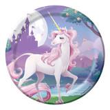 Unicorn Fantasy 17.4 cm Luncheon Plates - 8 Pack