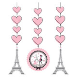 Party in Paris Hanging Cutouts - 3 Pack