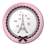 Party in Paris 17.4 cm Luncheon Plates - 8 Pack
