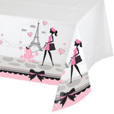 Party in Paris 137 cm x 259 cm Plastic Tablecover