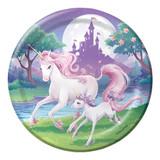 Unicorn Fantasy 22.2cm Dinner Plates - 8 Pack